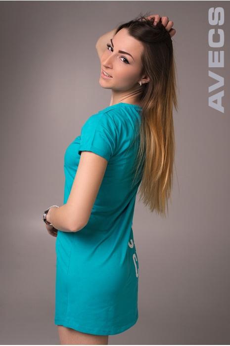 Женская туника 30071-AV Бирюза