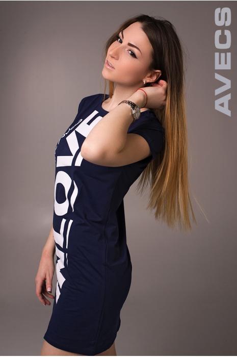 Женское Платье 30152-AV Тёмно-Синий