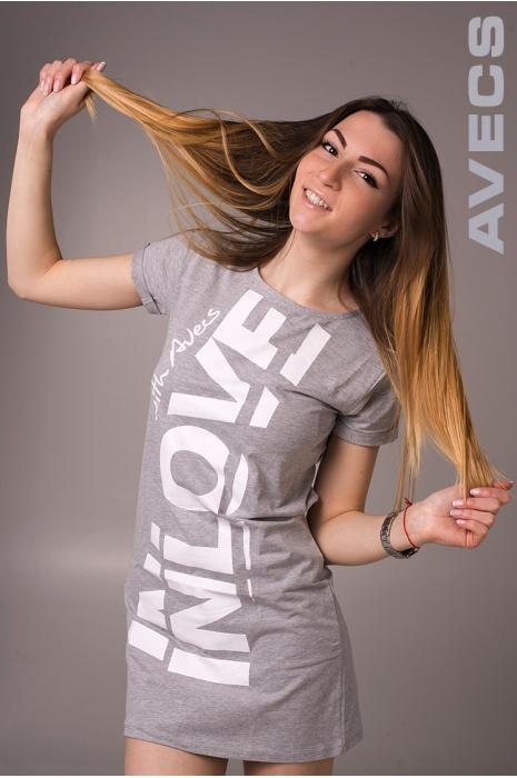 Женское Платье 30152-AV Серый