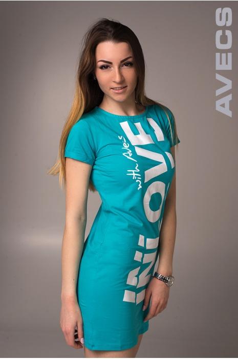 Женское Платье 30152-AV Бирюза