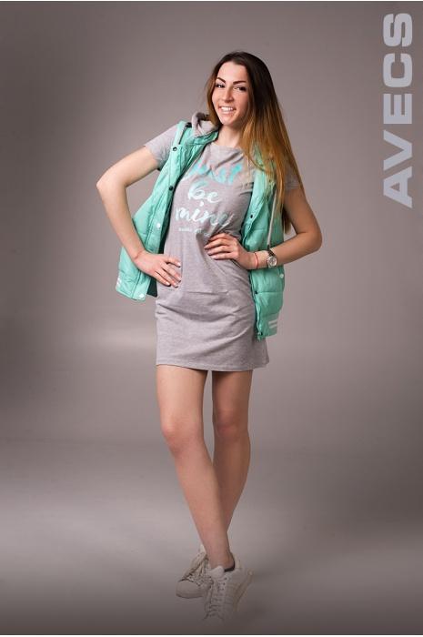 Женское Платье 30153-AV Серый