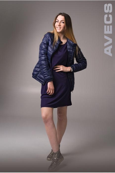 Женское Платье 30190-AV Тёмно-Синий