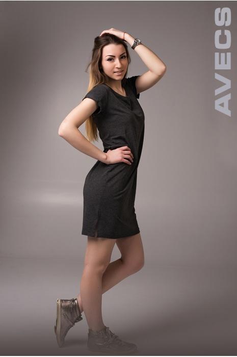 Женское Платье 30190-AV Тёмно-Серый
