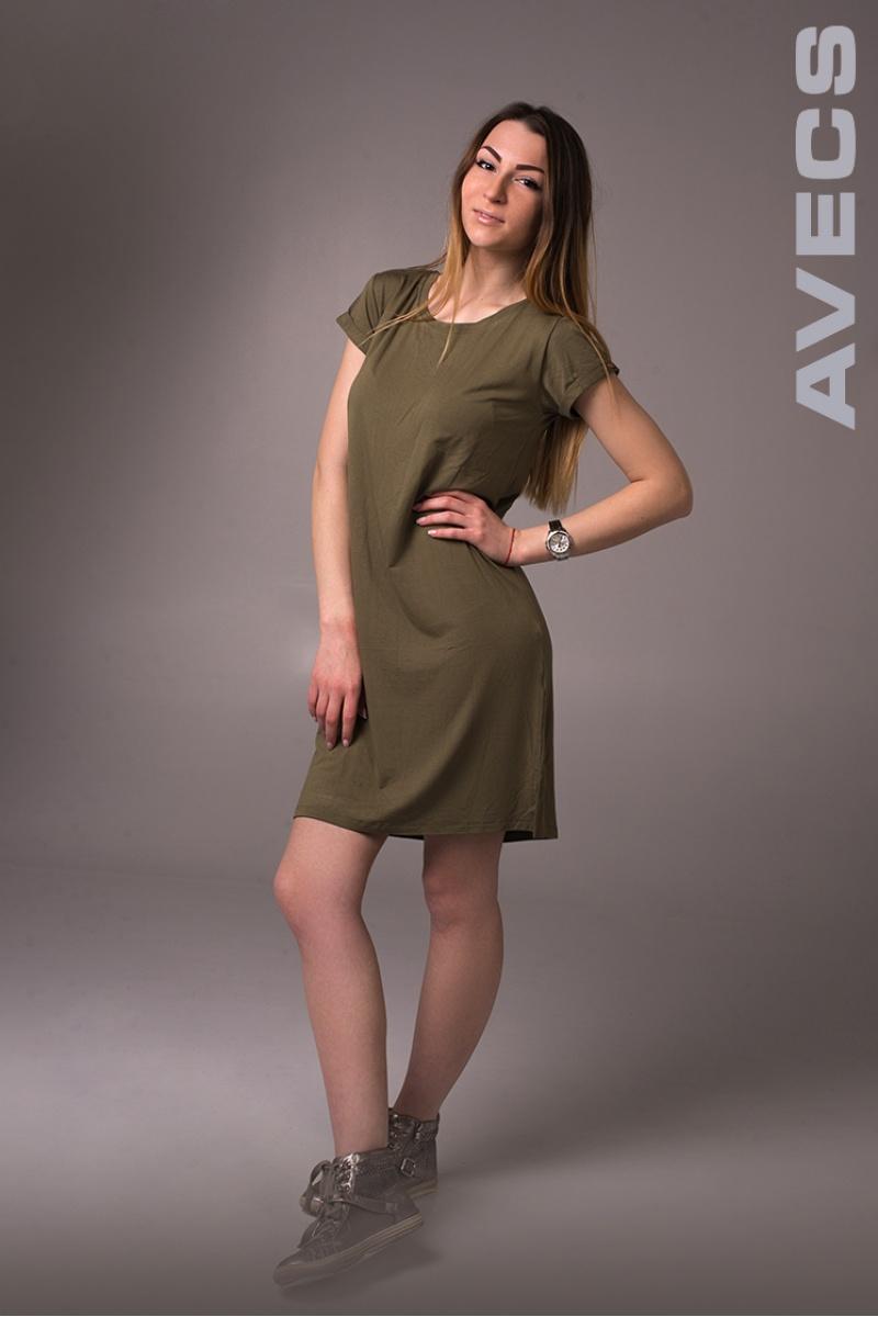 Женское Платье 30190-AV Хаки