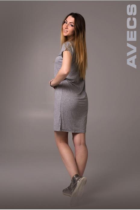 Женское Платье 30190-AV Светло-Серый