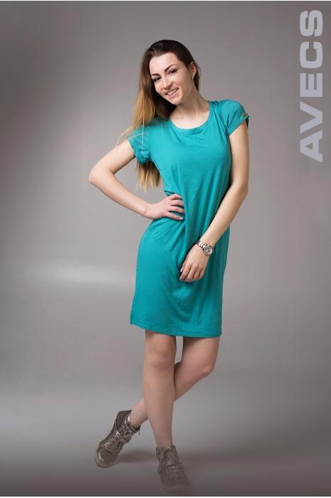 Женское Платье 30190-AV Бирюза