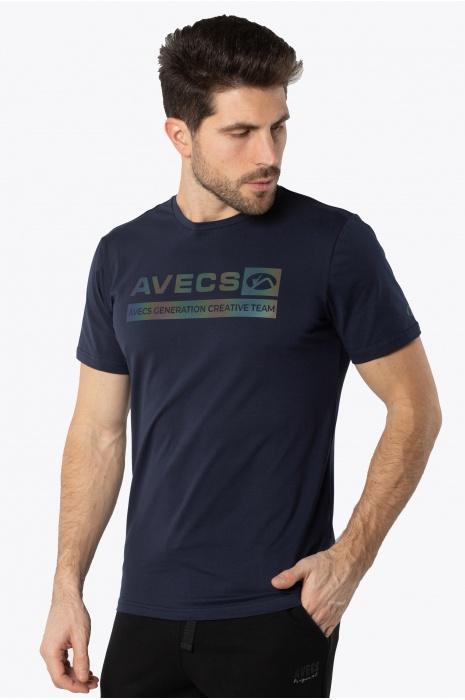Футболка AVECS - 30385/23 - Тёмно-Синяя