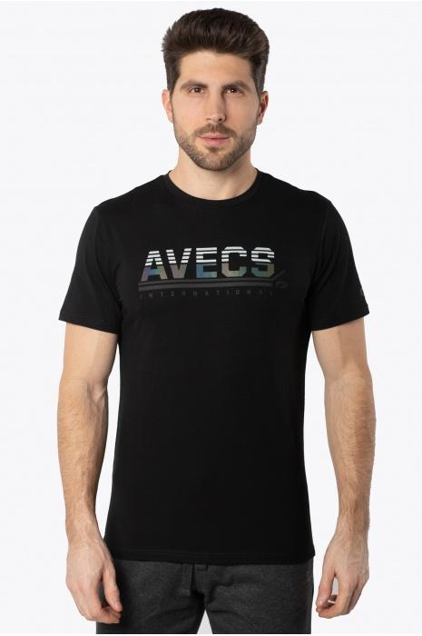 Футболка AVECS - 30387/1 - Чёрная