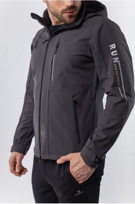 50180/17 - Ветровка Soft-Shell - Тёмно-Серый