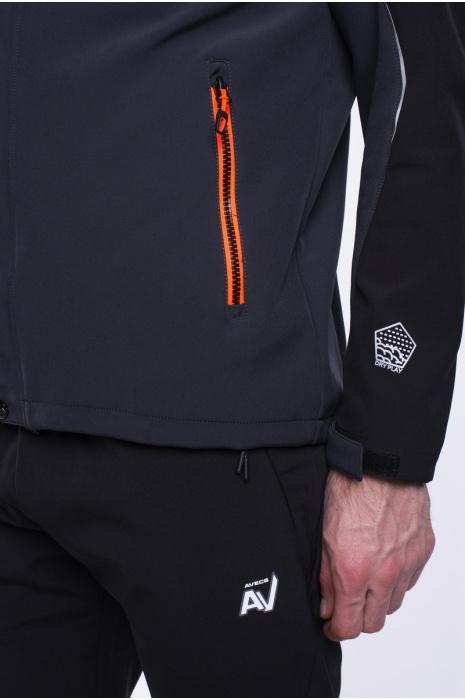 Ветровка Мужская 70256-AV  (1/2)-черный с серым