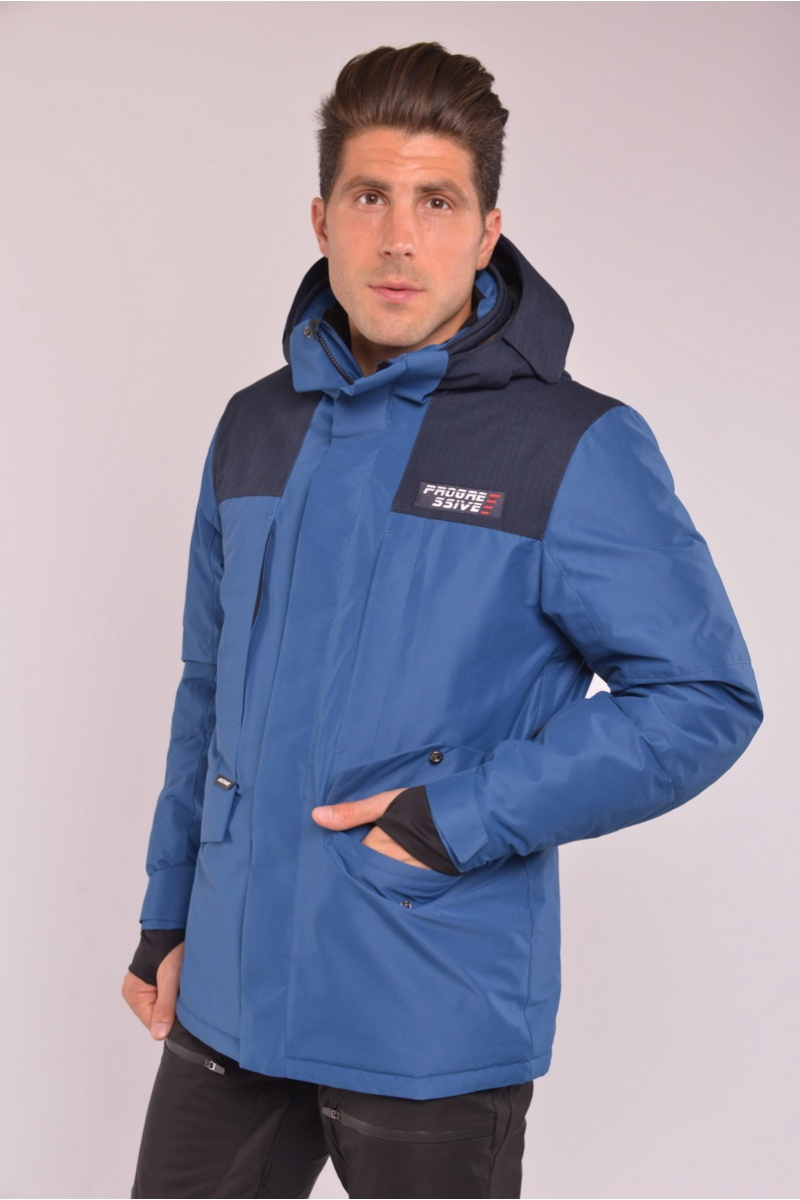 Сноуборд Куртка AVECS - 70288/57- Серо-Синяя