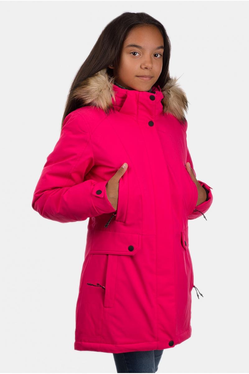Куртка Женская Подросток 70305 / 34 - Малиновый