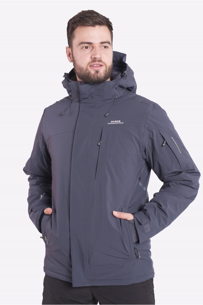 Лыжная Куртка AVECS - 70424/17- Тёмно-Серая