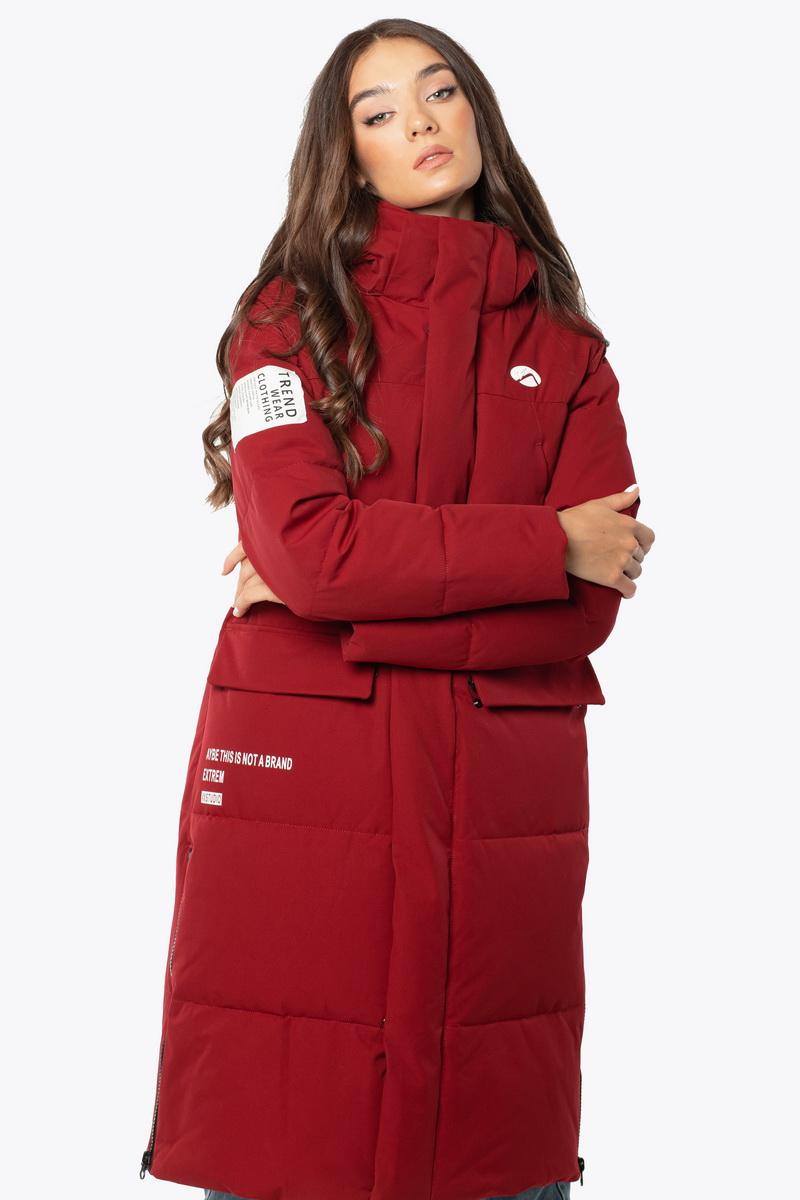 Куртка AVECS - 70449/52 - Бордовая