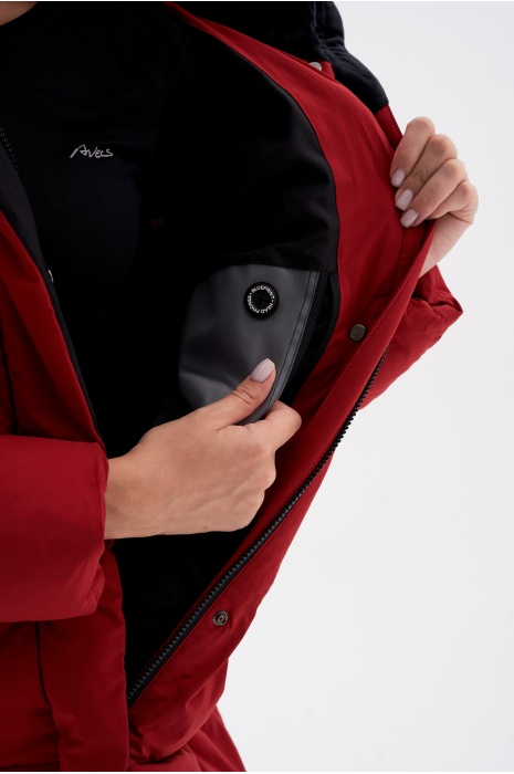 Куртка AVECS - 70461/52 - Бордовая