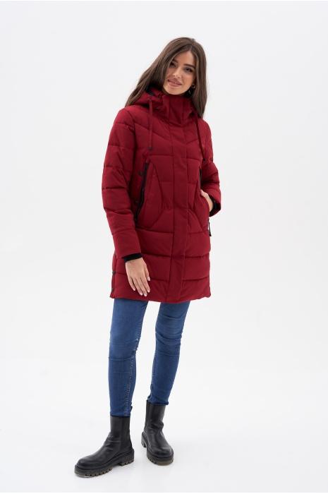 Куртка AVECS - 70462/52 - Бордовая