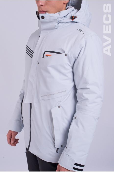 Куртка Лыжная 8653-AV Серый с Белым
