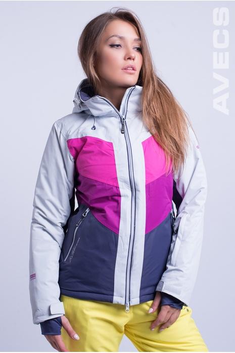Куртка Лыжная AV-8689 Малиновый с Фиолетовым