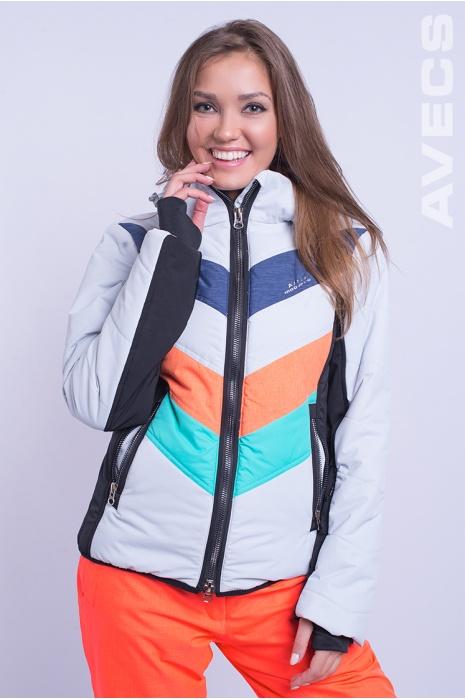 Лыжная Куртка AVECS - 8693 Оранжевый с Бирюзовым