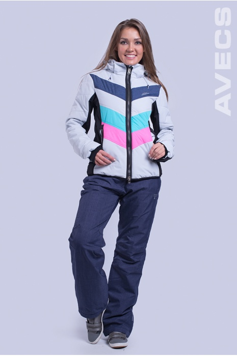 Куртка Лыжная AV-8693 Голубой с Розовым